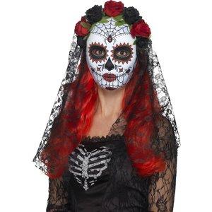 Day of the Dead Mask med slöja