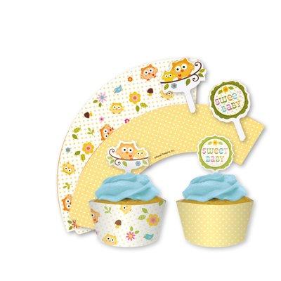 Happi tree muffinsformar och dekorationer - 12 st