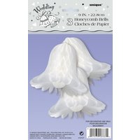 Honeycomb wedding bells - 23 cm 3 st