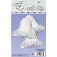 Honeycomb wedding bells - 23 cm 3 st