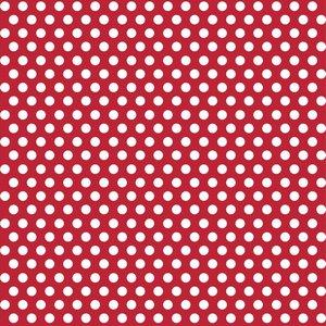 Röd prickigt presentpapper - 1.5m rulle