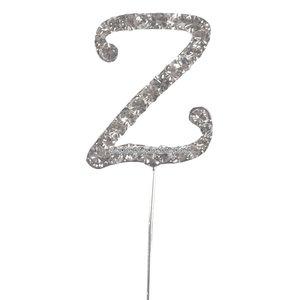Tårtdekoration med diamanter bokstaven Z