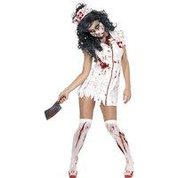 Zombie sjuksköterska maskeraddräkt