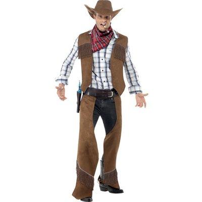 Cowboy med fransar maskeraddräkt - Medium