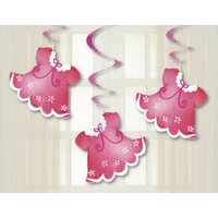 Hängade dekorationer - Klädlina rosa 3 st