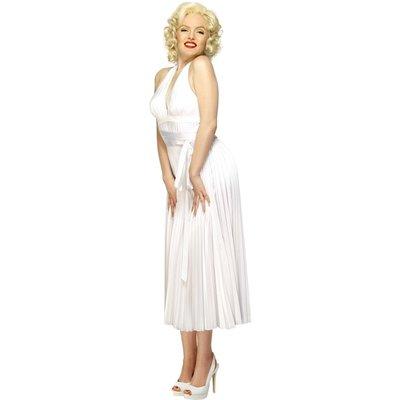 Marilyn Monroe halterneckklänning, vit