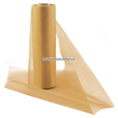 Organza rulle guld - 25m