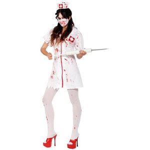 Zombiesjuksköterska maskeraddräkt