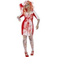 Kurvig zombiesjuksköterska maskeraddräkt
