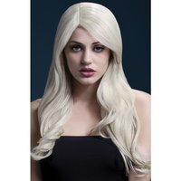 Peruk Nicole lång vågig - blond