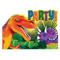 Förhistoriskt party inbjudningskort - 8 st