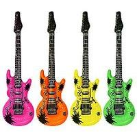 Uppblåsbar rock gitarr neon - 106 cm