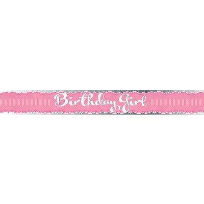 Rosa skärp födelsedagstjej