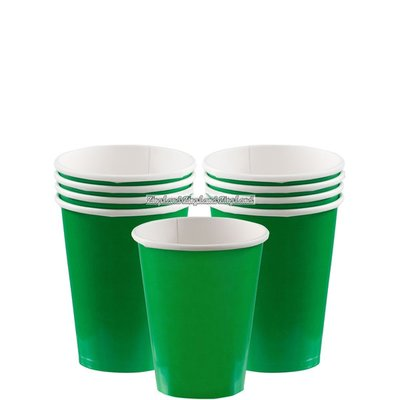 Gröna pappersmuggar - 266 ml