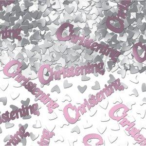 Bordskonfetti för dopet rosa - 14 g