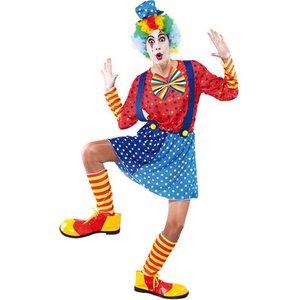 Blå clown maskeraddräkt - Onesize