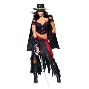 Sexig lady Zorro maskeraddräkt