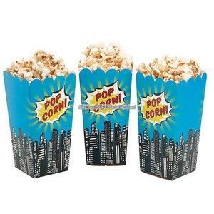 Pop Art Superhero Party - popcornbägare 16 cm - 8 st