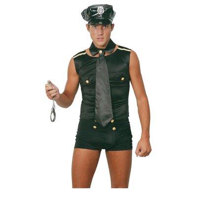 Polisman i shorts maskeraddräkt