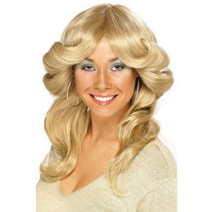 Peruk flick up blond