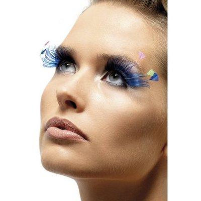 Ögonfransar - blå plymer