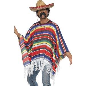 Mexikansk poncho flerfärgad