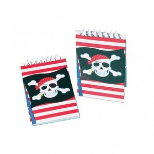 Mini piratanteckningsbok - 12 st