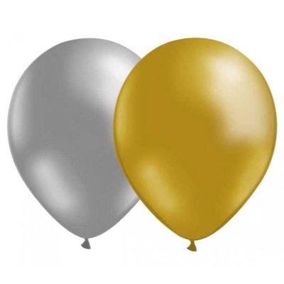 Ballongkombo - Silver-Guld