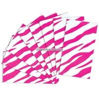 Presentpapper med rosa zebramönster - 8 ark