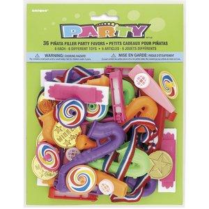 Pinata leksakstillbehör (36 st, pack leksaker)