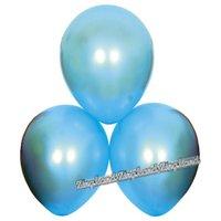 Satin ballonger - blå 6 st
