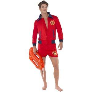 Baywatch Lifeguard maskeraddräkt - Röd - Large