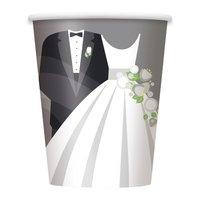 Pappersmuggar - Silvrigt bröllop - 27 cl 8 st