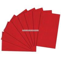 Rött silkespapper - 8 ark