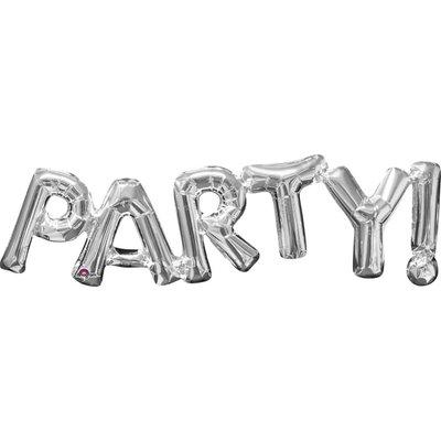 Folieballong - Party Silver