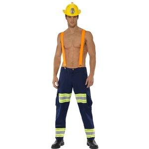 Manlig brandman maskeraddräkt - Medium