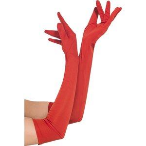 Handskar långa - Röda