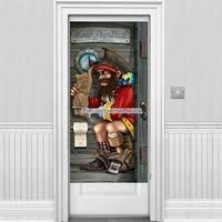 Piratkapten dörröverdrag till badrum - 1,5 m