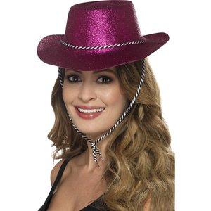 Cowboy Glitterhat Rosa