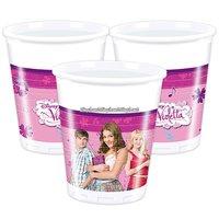 Disney Violetta plastmuggar 180ml - 8 st