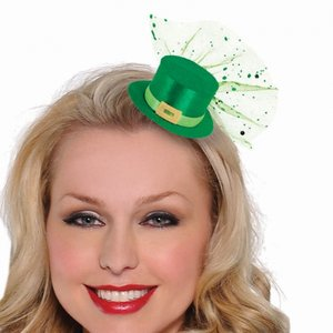St Patrick's day - Leprechaun mini hatt hårklämma
