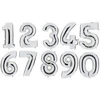 Ballongsiffror - Silver 100 cm