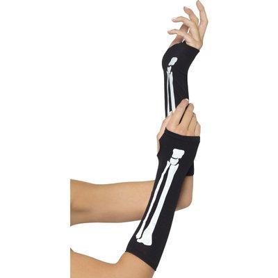 Handskar med skelett tryck