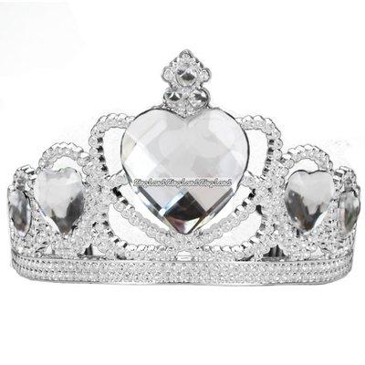 "Silvertiara med transparenta \\\""diamanter\\\"""