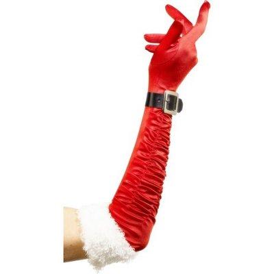 Handskar tomte röd