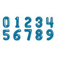 Sifferballonger - Blå folie - 41 cm