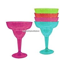 Margaritaglas i plast och flera färger 295 ml - 20 st