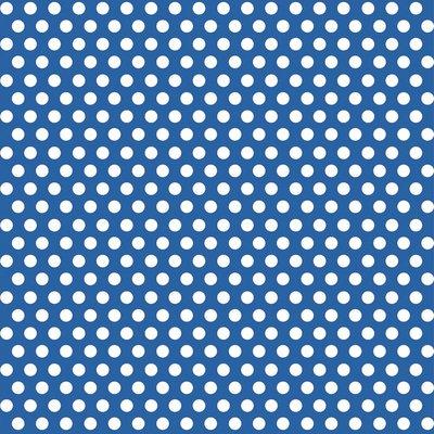 Blå prickigt presentpapper -1.5m rulle