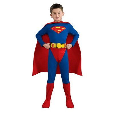 Stålmannen jumpsuit - maskeraddräkt barn