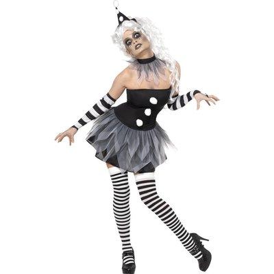Ondskefull Pierrot-clown maskeraddräkt